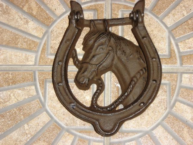 Cast iron horse head door knocker home decor collectible - Horse door knocker ...