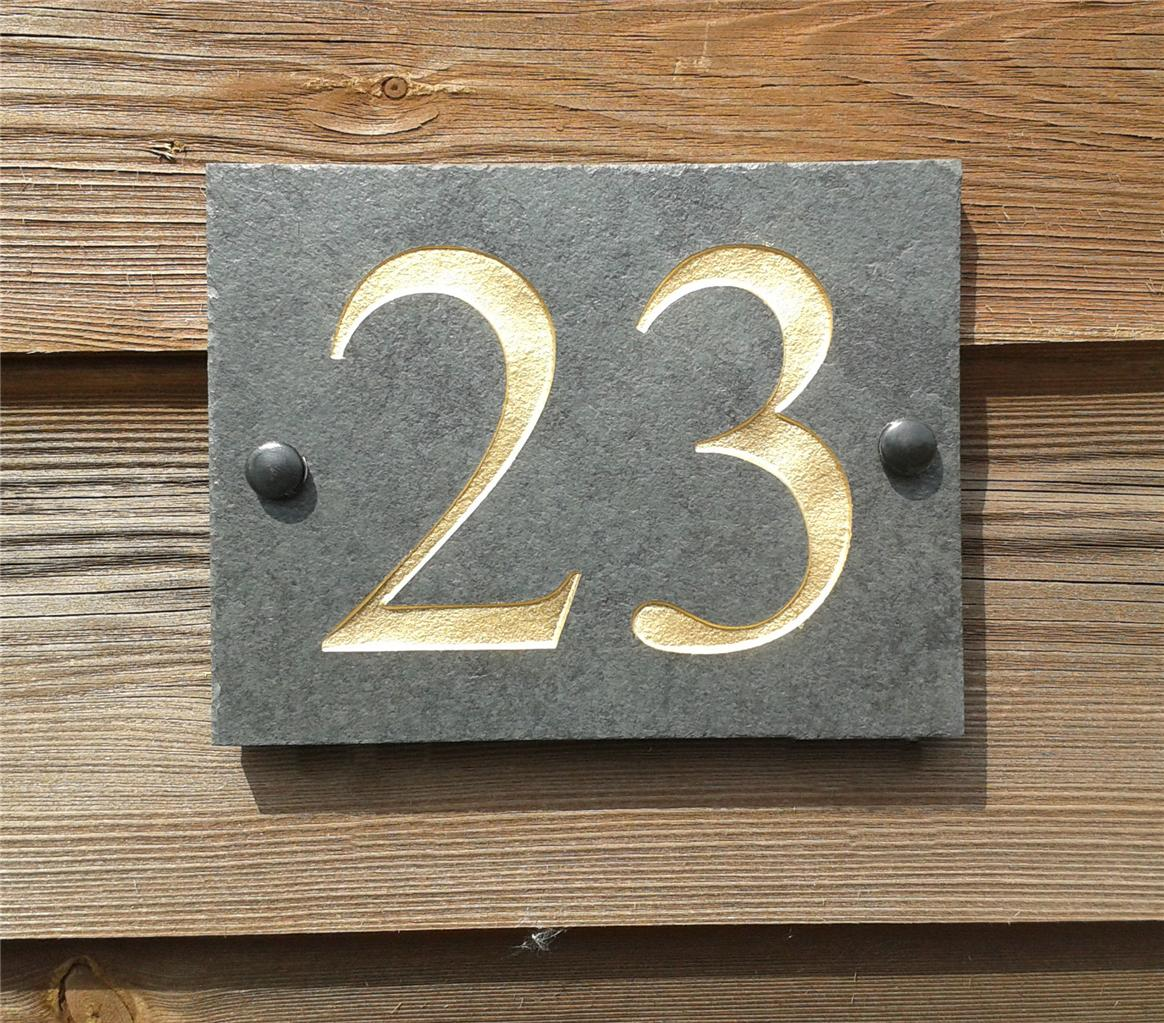High-Quality-Engraved-Slate-House-Door-Number-Sign- & High Quality Engraved Slate House Door Number Sign Plaque Any Number ...