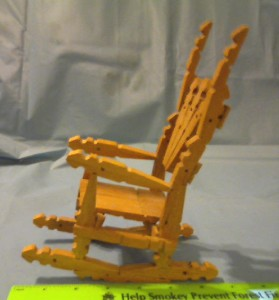 200921720283 on Wooden Clothespin Rocking Chair