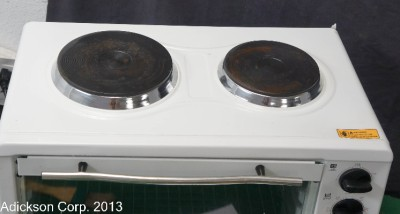 Details about Avanti MINI KITCHEN Toaster Oven with 2 BURNERS