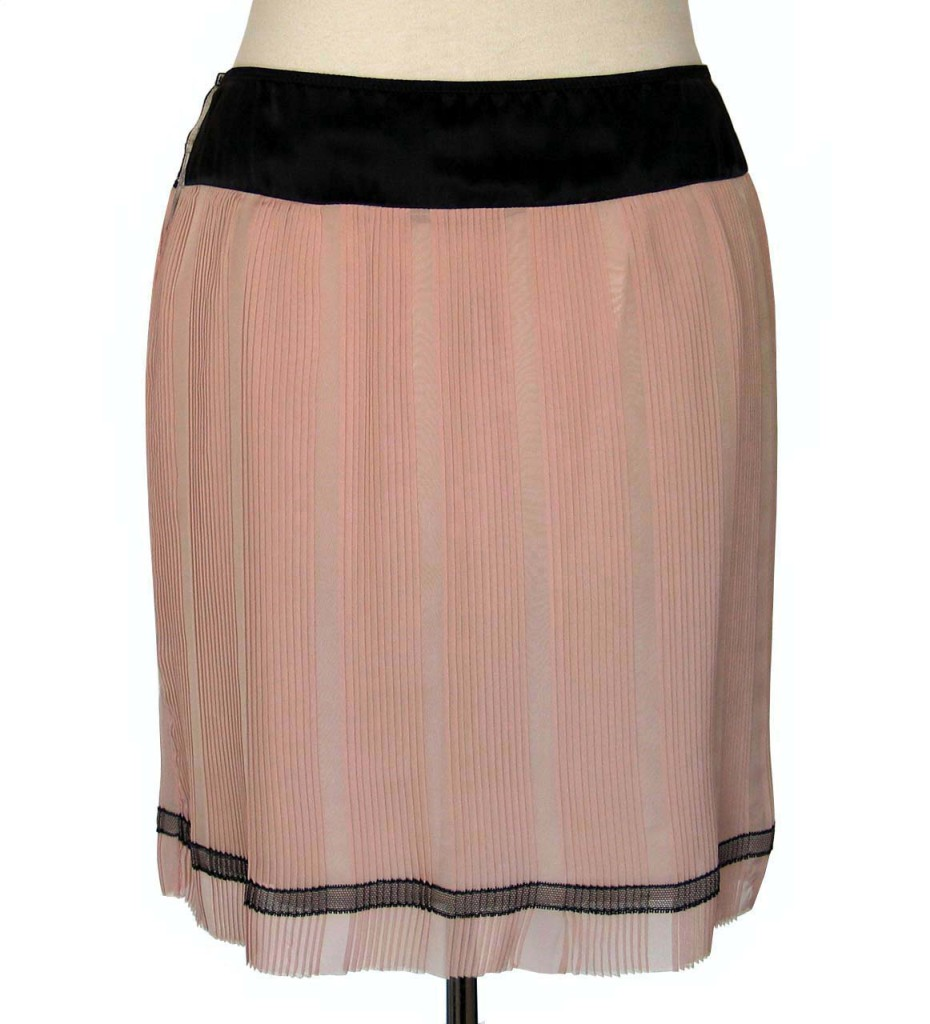 Marc Jacobs Runway Pink Amp Black Pleated Silk Slip Skirt