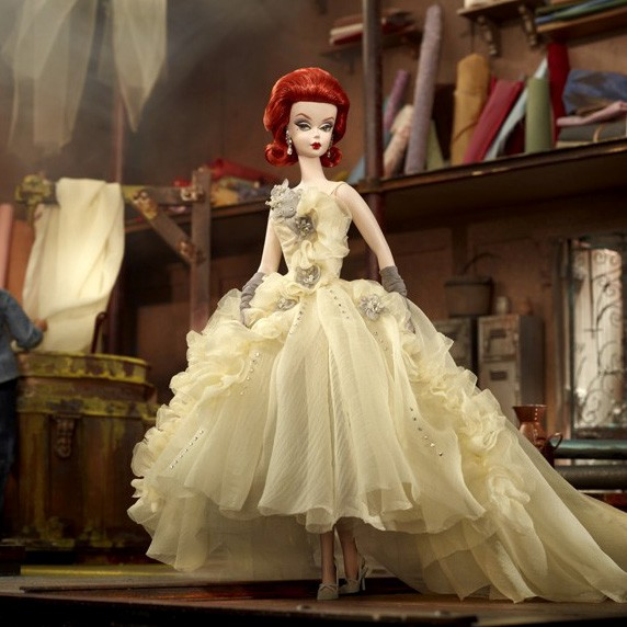 2012 Barbie Collector Bfmc Silkstone Atelier Gala Gown