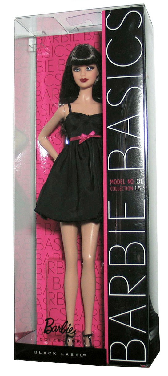 Barbie Basics Doll Black Dress Muse Model No 1 01 001