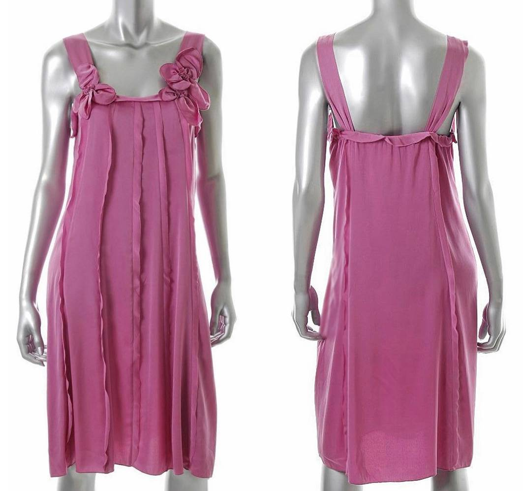 Elie Tahari Pink Silk Estella Dress Us 12 Uk 16 It