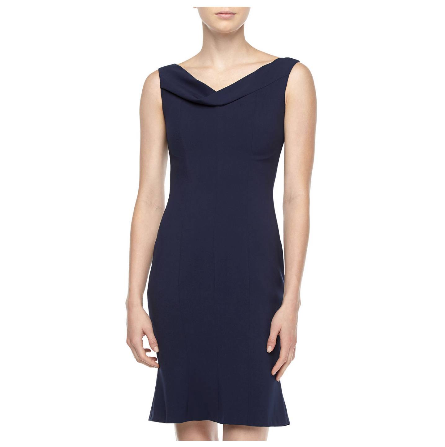 t tahari  by elie tahari  navy sapphire lisbeth dress us 8    uk 12    it 44 nwt