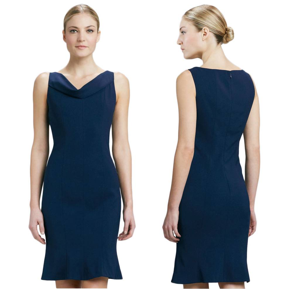 Details about t tahari by elie tahari navy sapphire lisbeth dress us