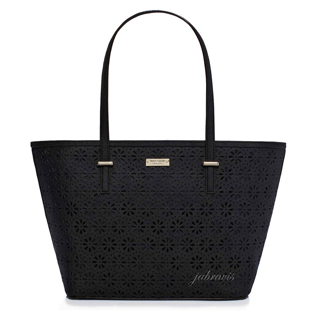 Kate Spade Black Cedar Street Perforated Leather Harmony