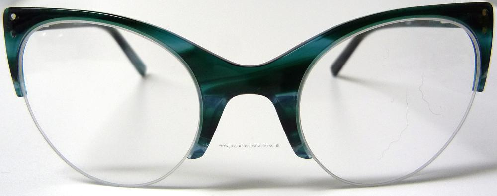 50s repro.top quality cat eye half frame glasses ELLA ...