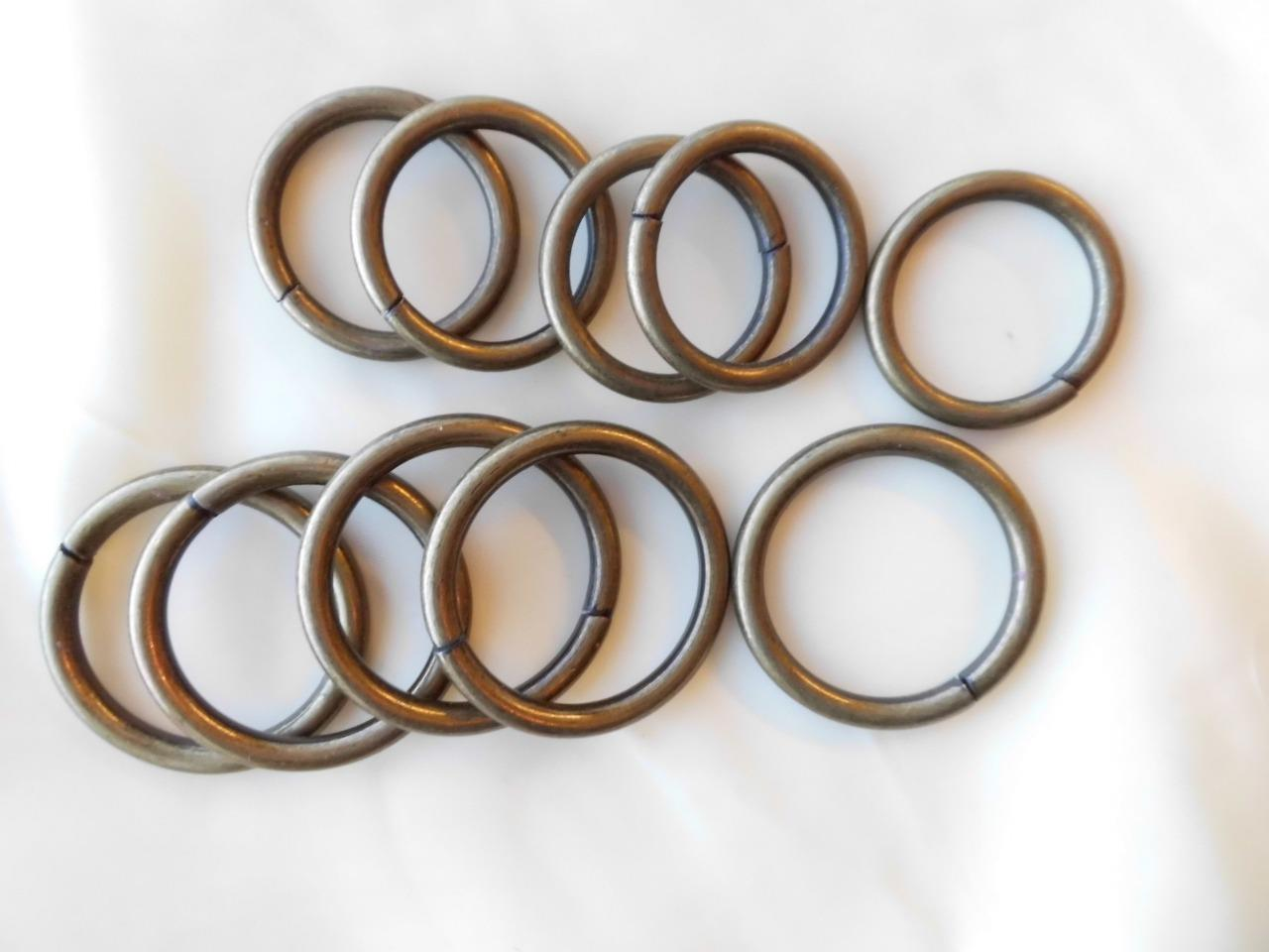 """HEAVY Antique BRASS O RINGS 25mm 30mm 1/"""" buckle belt leather craft round metal"""