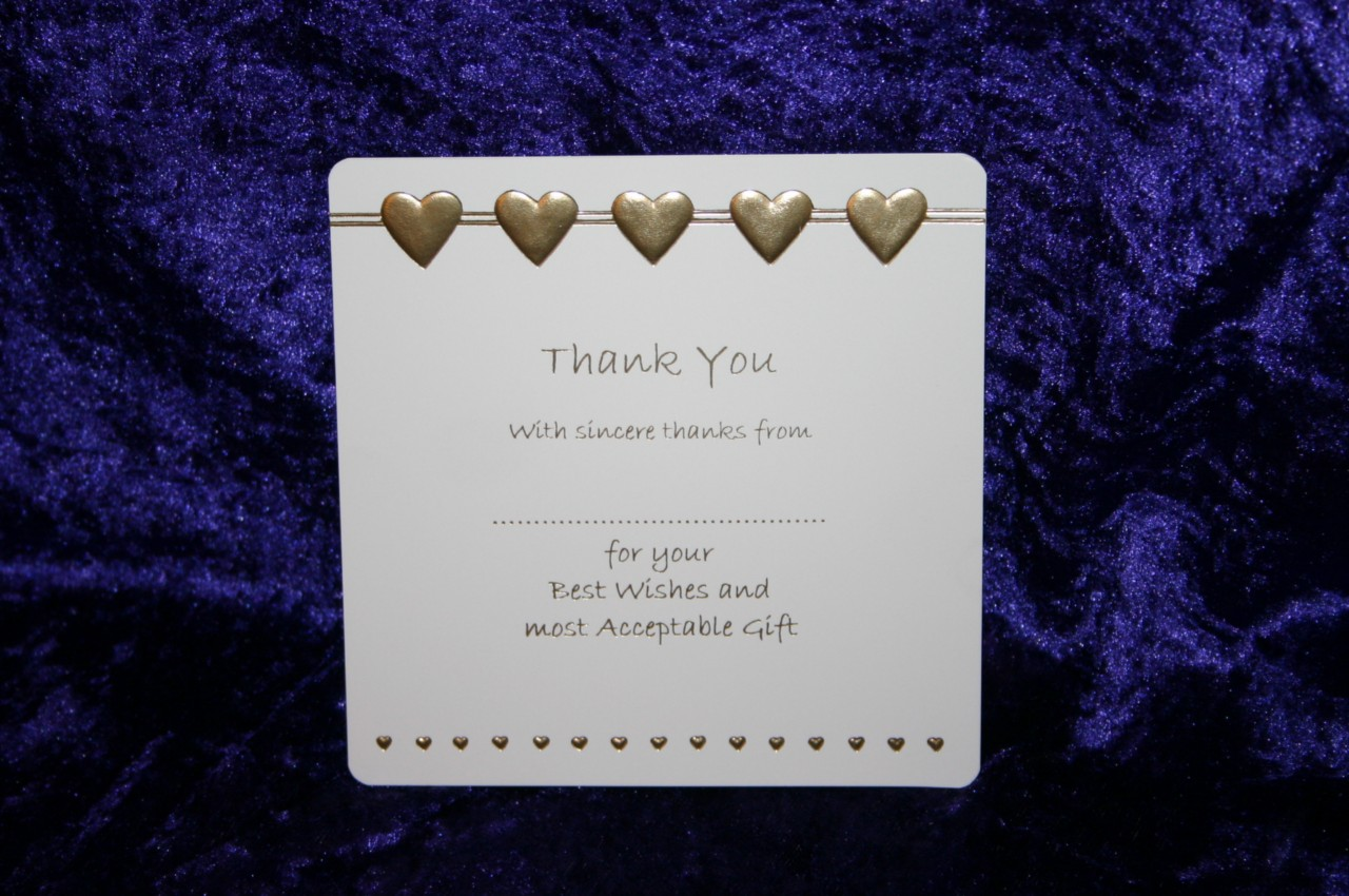 Wedding Gift Thank You Cards Pack : Details about LUXURY WEDDING THANK YOU for the GIFT CARDS pack 10 / 12 ...