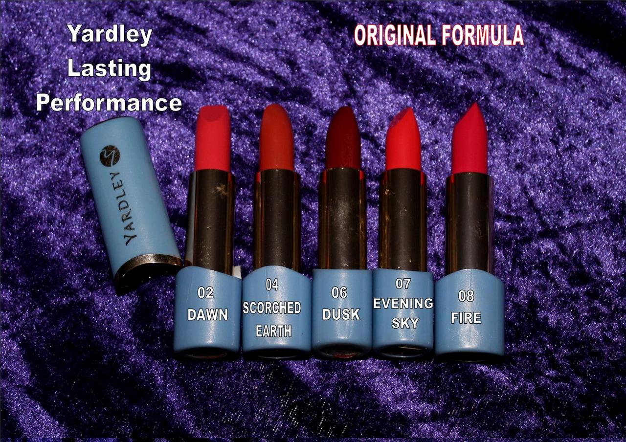 YARDLEY-LIPSTICK-lasting-performance-DAWN-SCORCHED-EARTH-DUSK-EVENING-SKY-FIRE