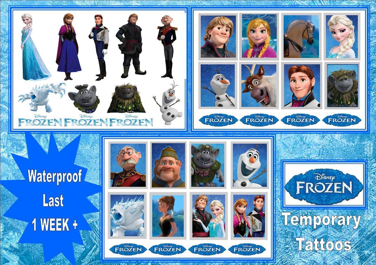 Frozen disney film x14 temporary kids tattoos waterproof for Disney temporary tattoos