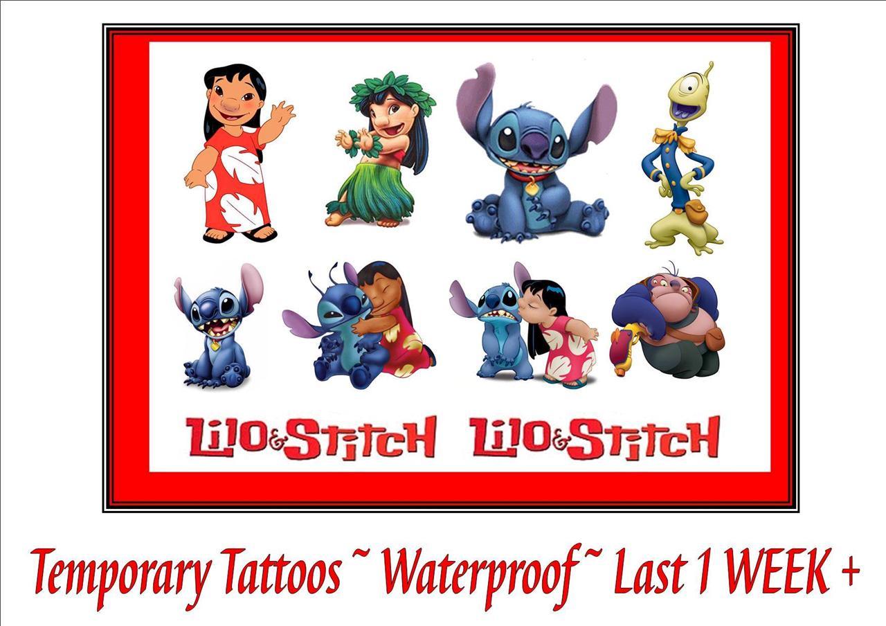 Disney inspired lilo stitch party temporary tattoos for Disney temporary tattoos