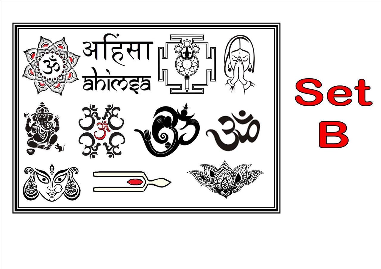 Hindu hindi symbols x12 x24 temporary tattoos waterproof hindu hindi symbols x12 x24 temporary tattoos waterproof buycottarizona