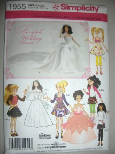 1955 Bride Doll http://www.ebay.com/itm/Barbie-Doll-Fairytale-Wedding-Dress-Gown-New-Simplicity-1955-Pattern-Bratz-Moxie-/230869288047