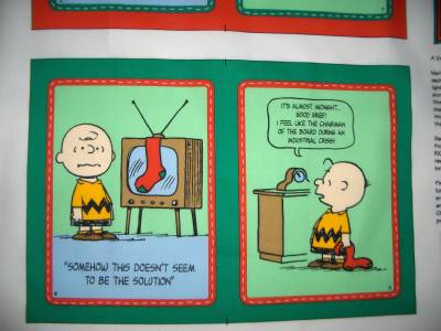 Charlie Brown Christmas Fabric Book Panels