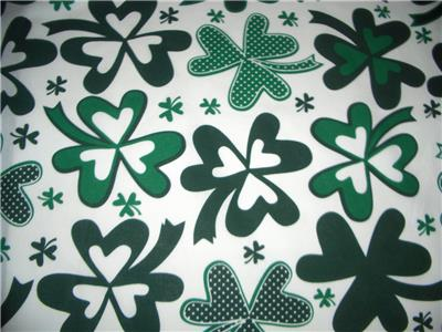 St Patricks Day 60 Quot Wide Large Shamrocks Green White