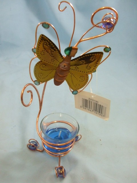 Copper-Butterfly-Stand-with-Gel-Candle-NEW-D010190