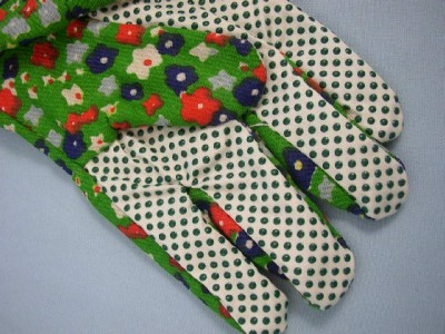 Ladies Polka Dot Gardening Floral Gloves NEW GGL1 eBay