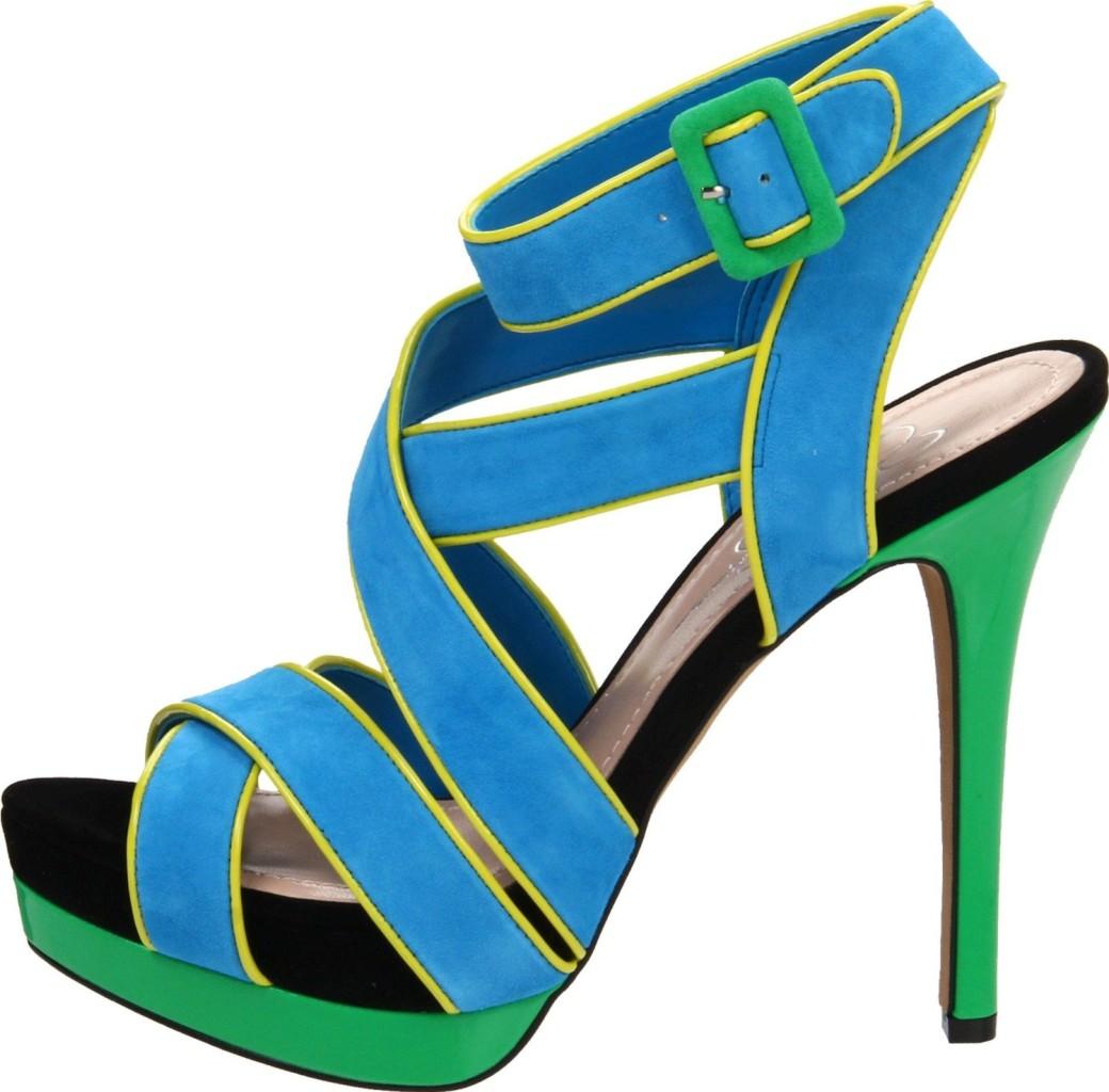 Womens-Shoes-Jessica-Simpson-EVANGELA-Platform-Heels-Sandal-Atlantic-Blue-Green
