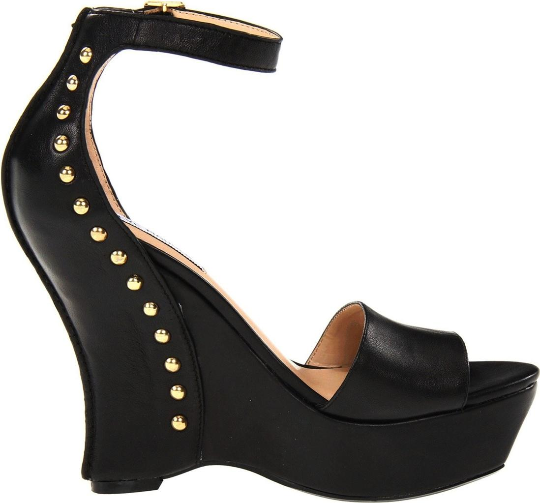 Womens-Shoes-Steve-Madden-SKYLUR-Platform-Studded-Wedge-Sandals-Heels-Black