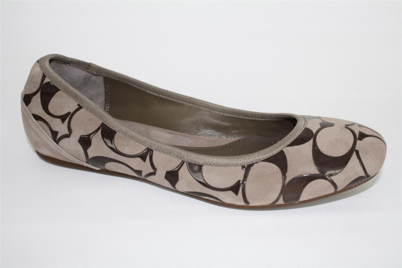 Womens-Shoes-COACH-A2034-ARIA-Signature-Ballerinas-Ballet-Flats-Slip