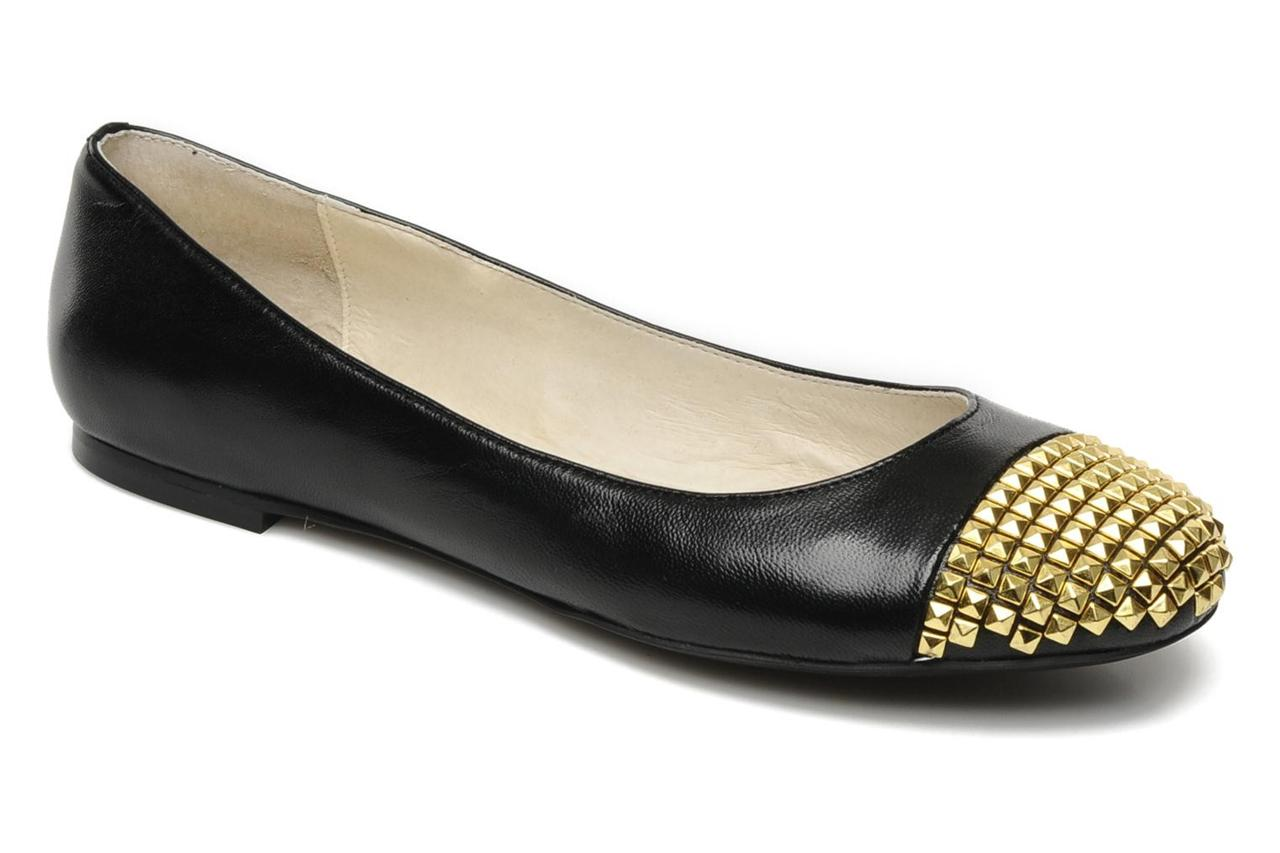 womens shoes michael kors aria ballet slip on flats ballerina stud black leather ebay. Black Bedroom Furniture Sets. Home Design Ideas
