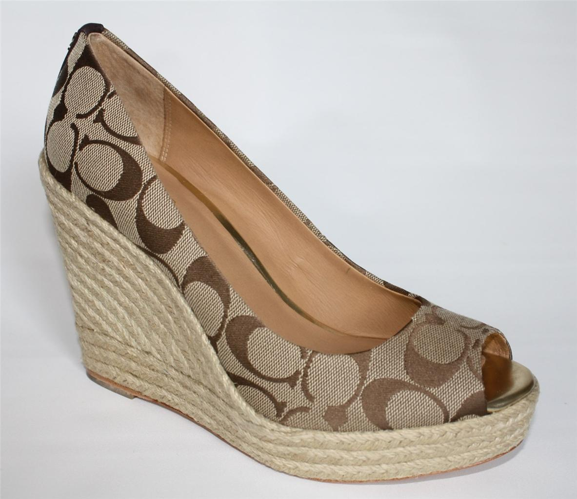 womens shoes coach milan a1628 signature c espadrille