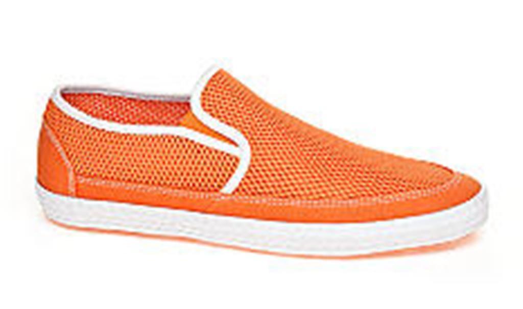 mens shoes coast key largo slip on loafers orange