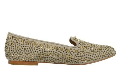 Womens-Shoes-Steve-Madden-GRAANITE-Flats-Studded-Loafers-Gold-Multi
