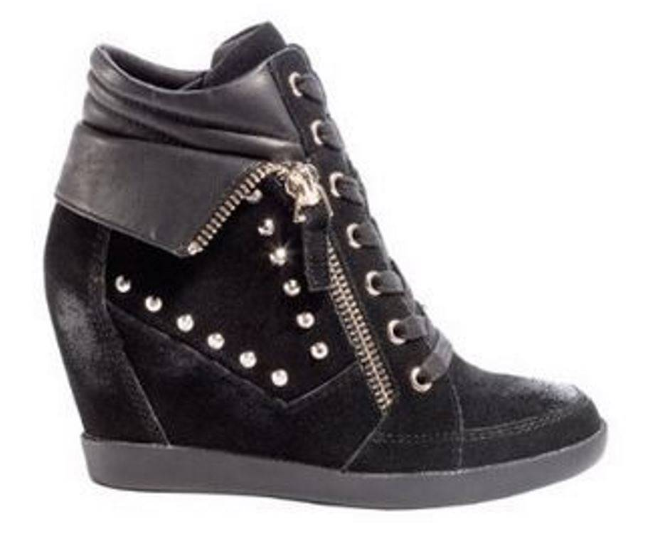 womens shoes guess hitzo lace up wedge sneakers