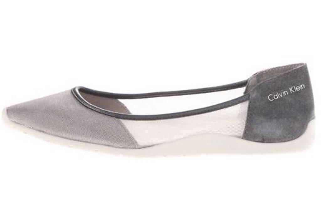 Womens Shoes Calvin Klein LALA Sporty Ballet Flats Ballerina Mesh Suede Gray | EBay