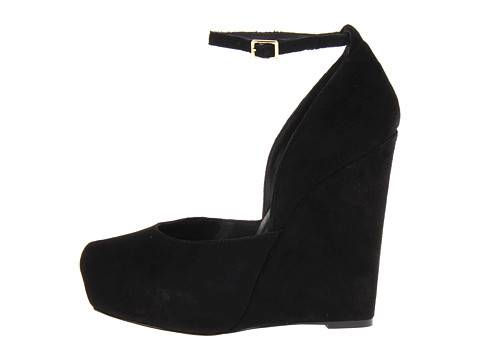 Womens Black Block-heel Suede Shoes - Reiss Ellen
