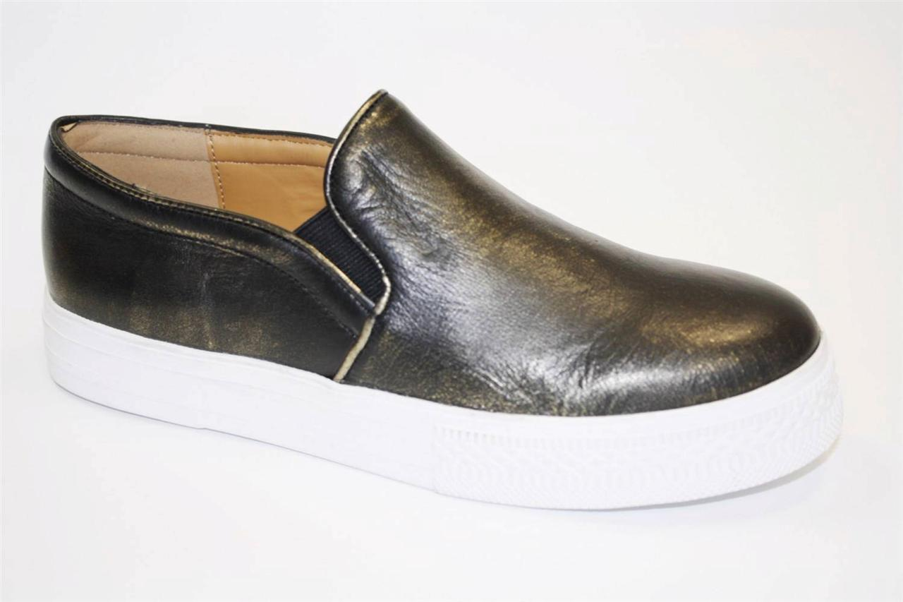 Womens-Shoes-Cynthia-Rowley-HURRY-Slip-On-Sneaker-Loafer-Metallic