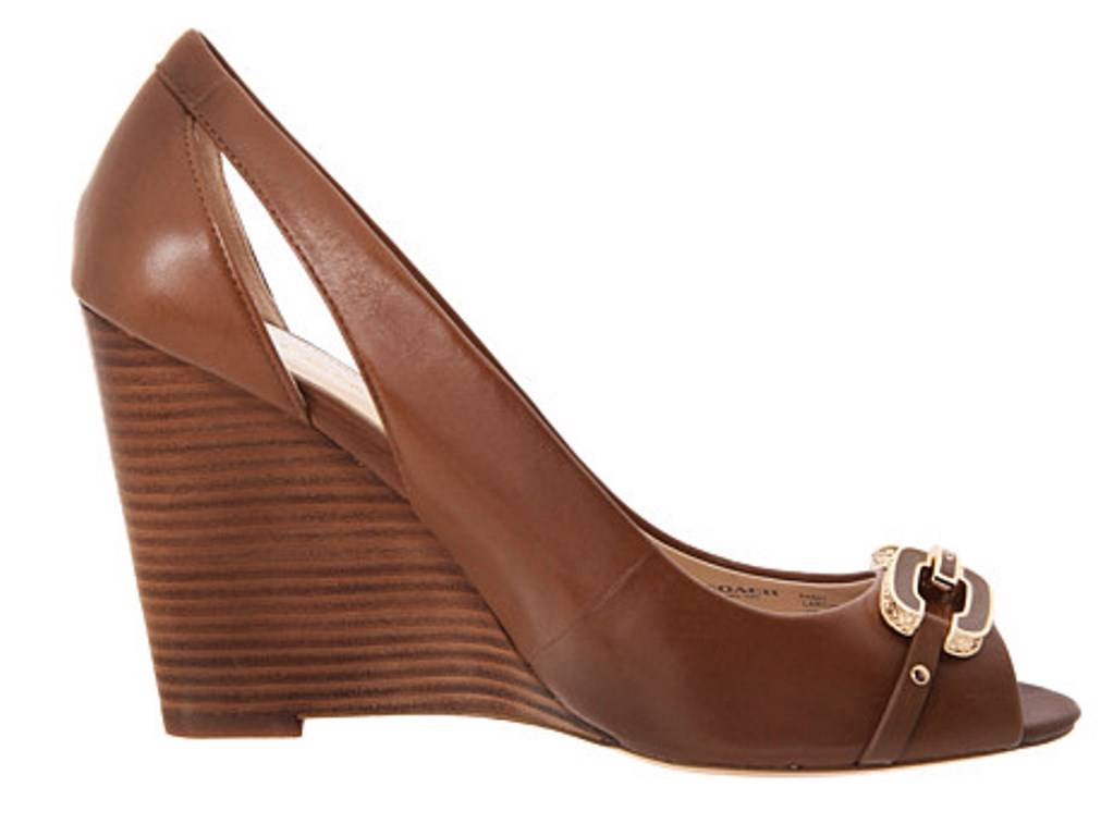 s shoes coach larchmont a4867 classic wedge peep toe