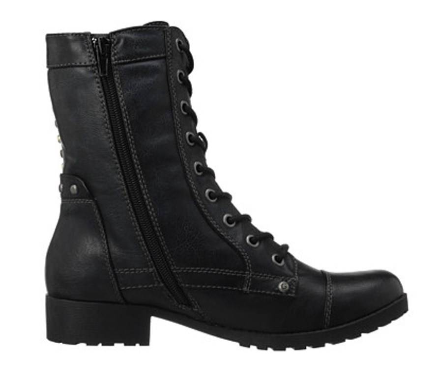 s shoes g by guess blast combat ankle boots studs