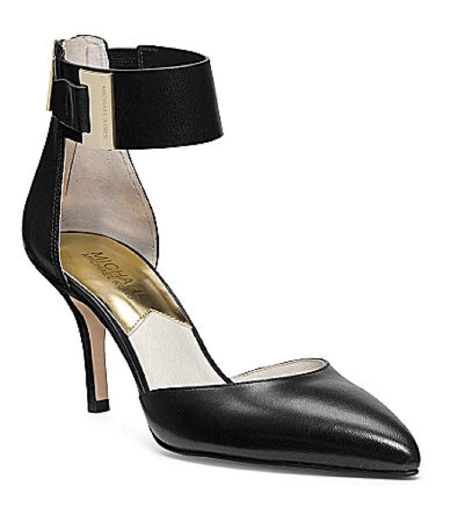 Ankle Strap Mid Heel Shoes