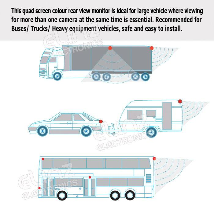 Reverse Camera Kit Installation Diagrams Large Vehicles