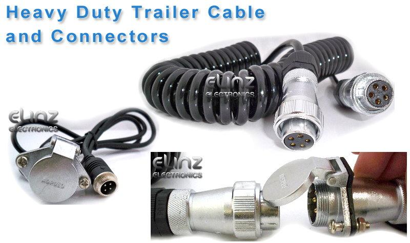 heavy duty trailer cable and connectors