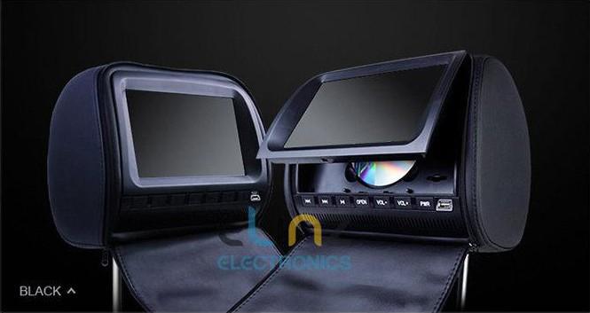 Headrest dvd players black