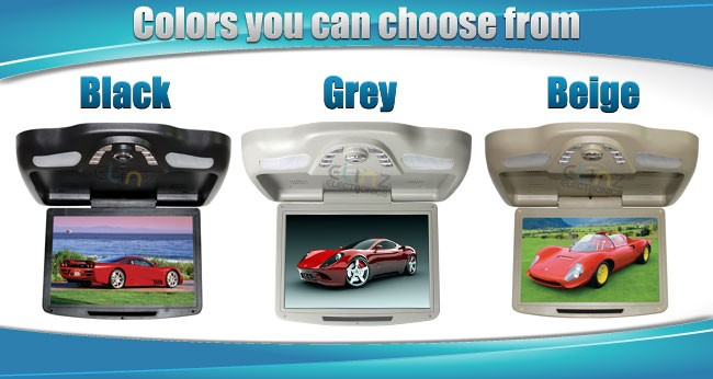 car roof mount dvd colours