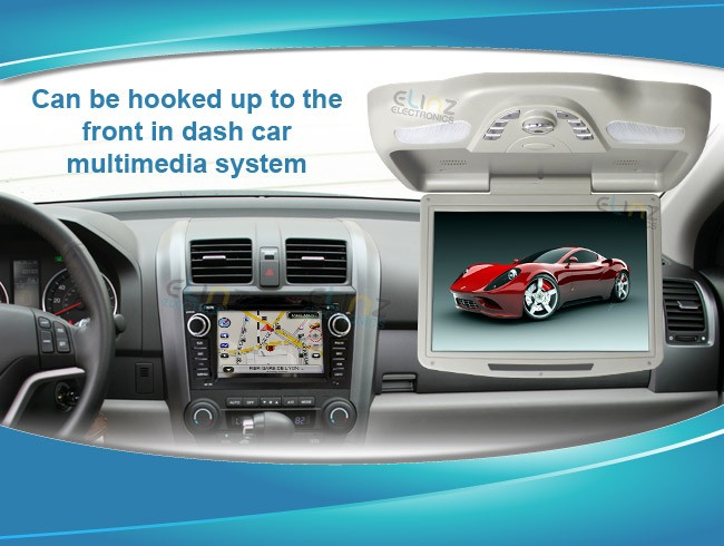 DVD player in car roof in dash installation