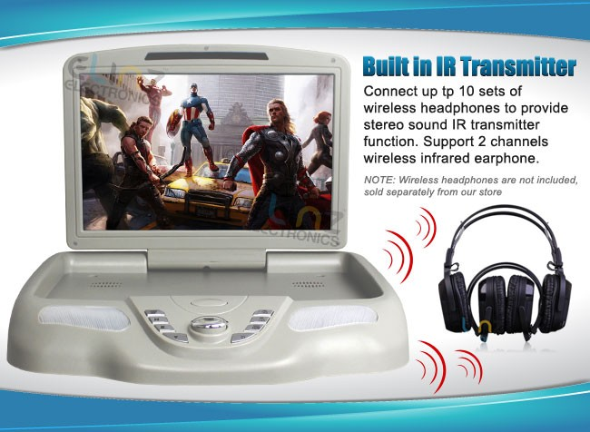 roof mounted dvd player ir transmitter