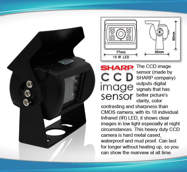 Car reversing camera specifications R7MI-RV4PIN10M