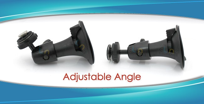 "windscreen mount bent and straightened, with caption ""adjustable angle"""