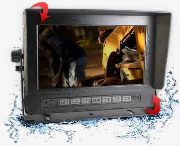 Monitor with four angle viewing switch