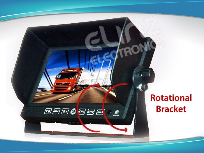 Rotational bracket reversing camera kit GEAR7