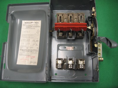 Square D H361 30 Amp Safety Disconnect Switch 15 Hp 600