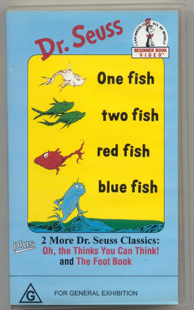 Dr seuss one fish two fish red fish blue fish vhs video ebay for Dr seuss one fish two fish