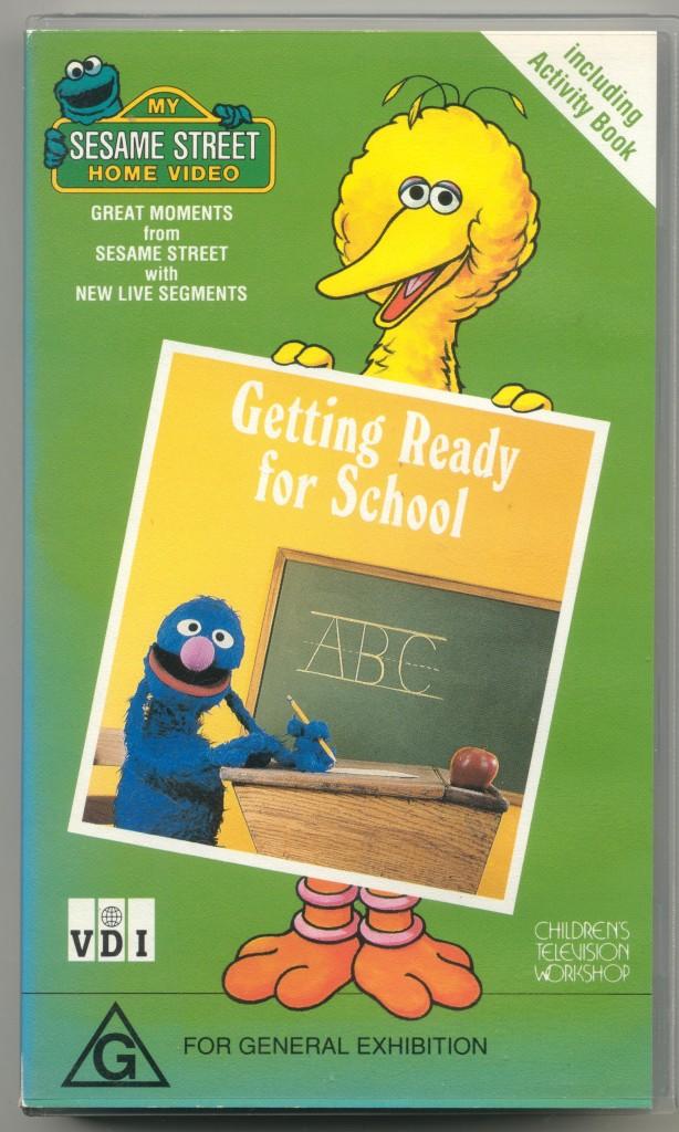 Sesame street getting ready to read vhs ebay